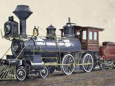400x300 Locomotive. Drawing R. Loewenstein.