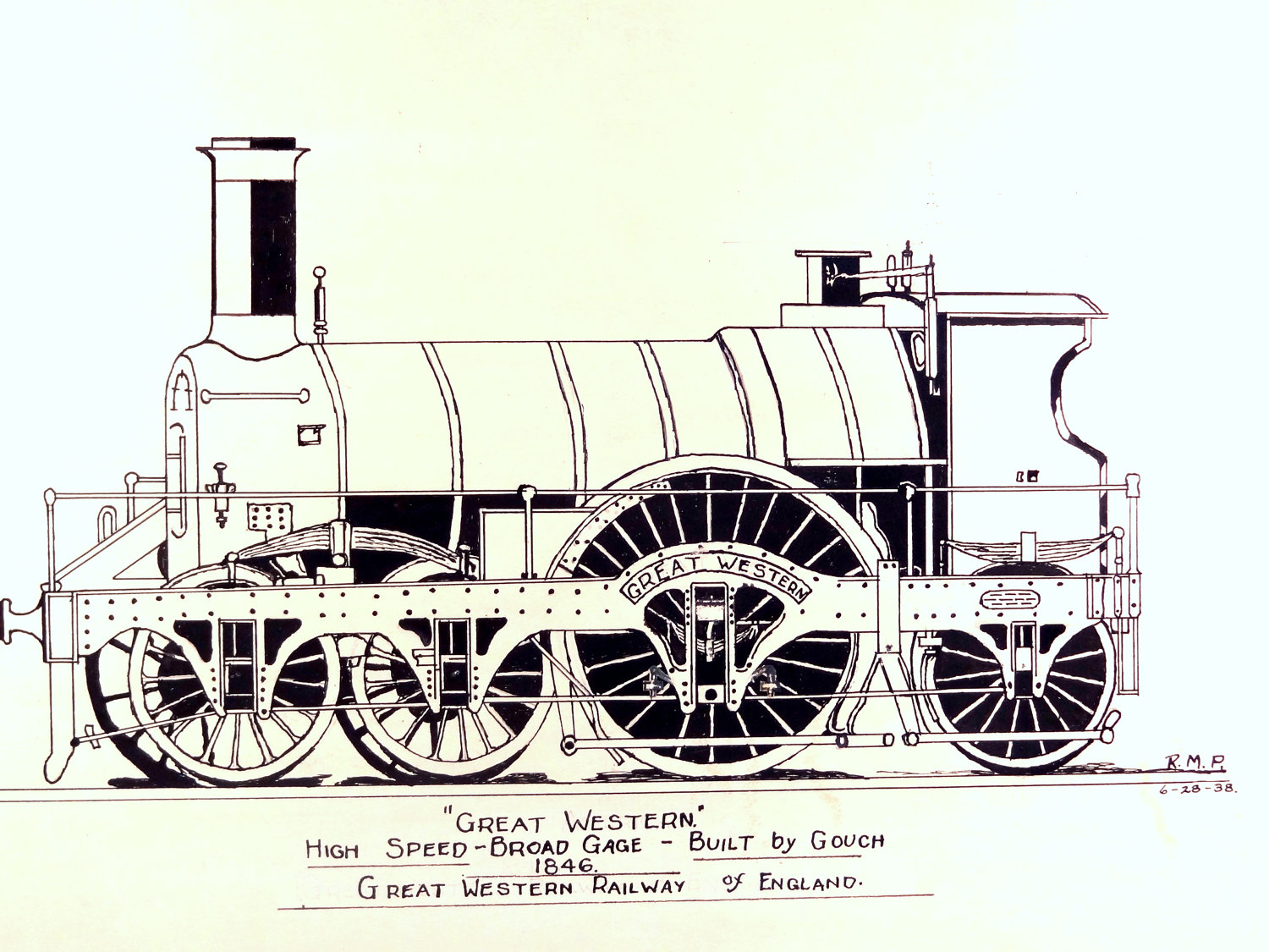 1500x1125 Vintage Train Sketch Locomotive Drawing By Thevintagedoghouse