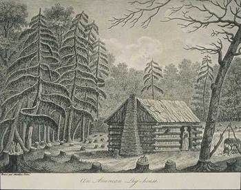 how to draw a small log cabin