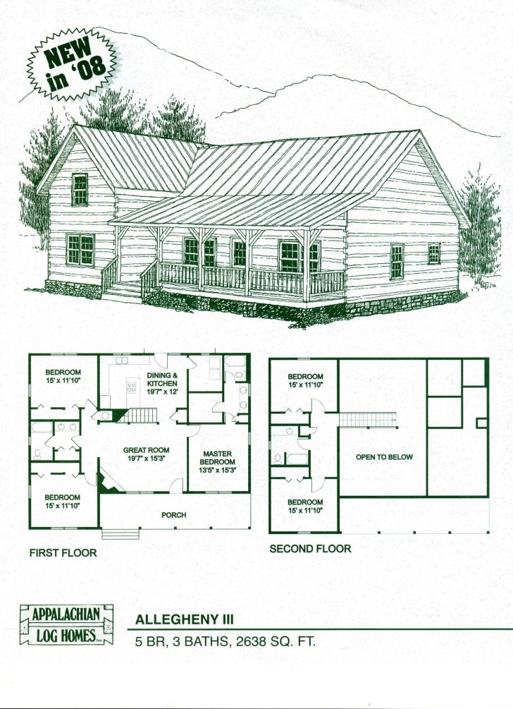 728x1005 Log Cabin House Plan Interior Single Story Plans With Open Floor