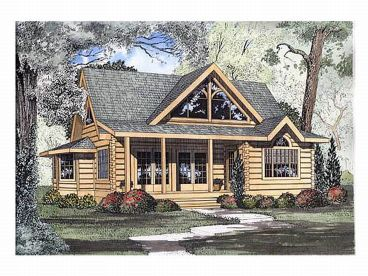 368x276 Log House Plans The House Plan Shop