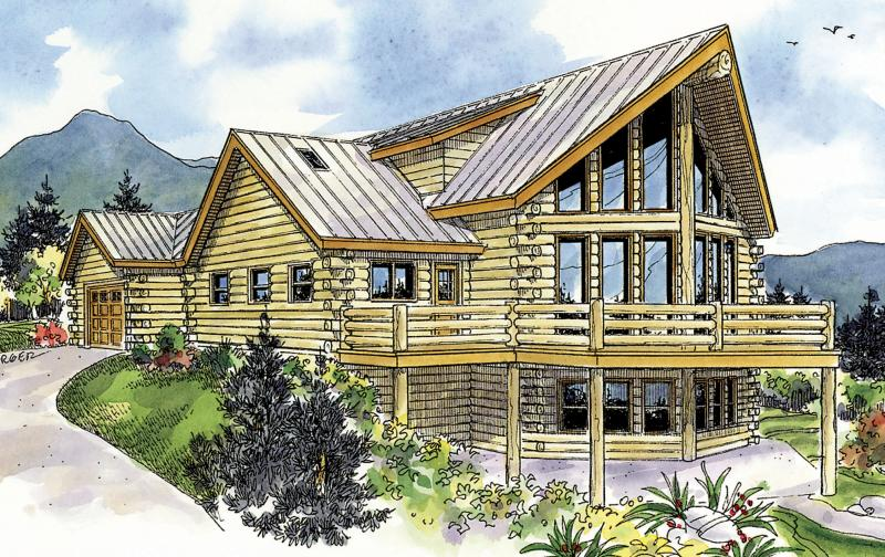 800x504 Log Plan 1,987 Square Feet, 2 Bedrooms, 2.5 Bathrooms