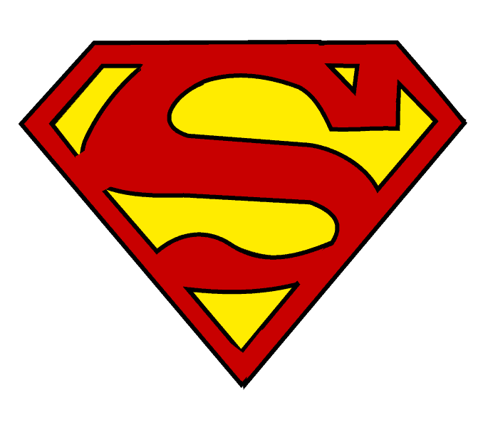 678x600 How To Draw Superman Logo Easy Step By Step Drawing Guides