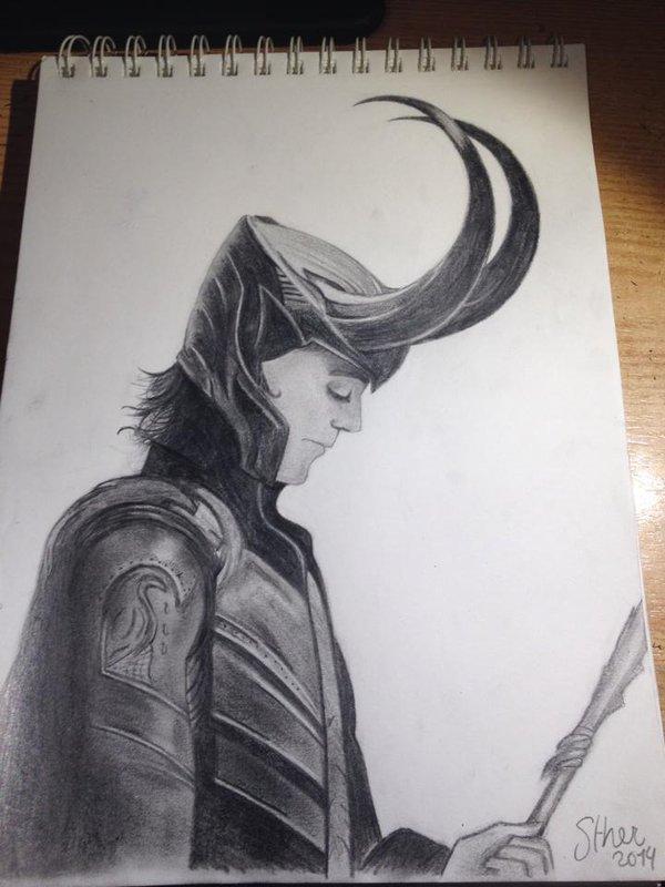 600x800 Loki Pencil Drawing By Missweasleyjb