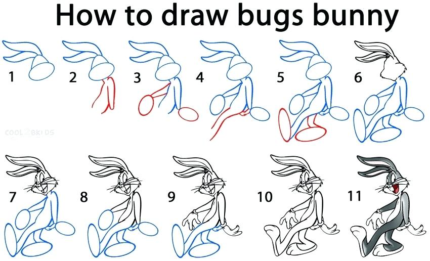 850x516 How To Draw A Bunny How To Draw Lola Bunny Step By Step
