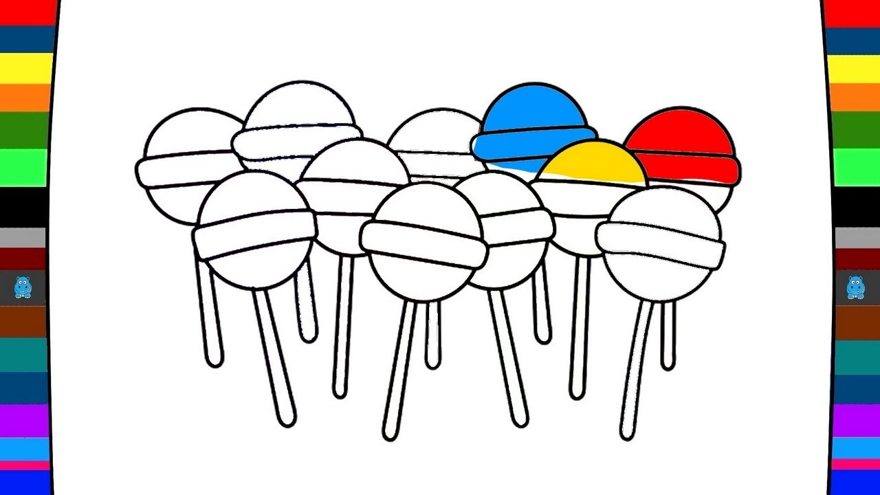 1280x720 How To Draw Lollipop Drawing And Coloring Art Of Coloring