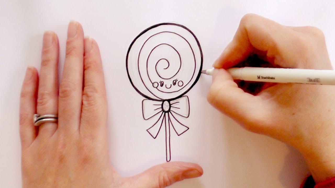 1280x720 How To Draw A Cartoon Lollipop