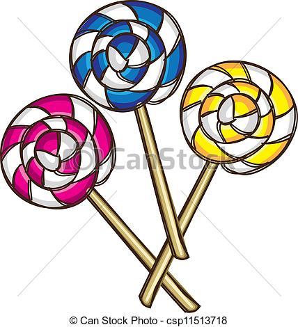 428x470 Lollipop Doodle Vector Clip Art