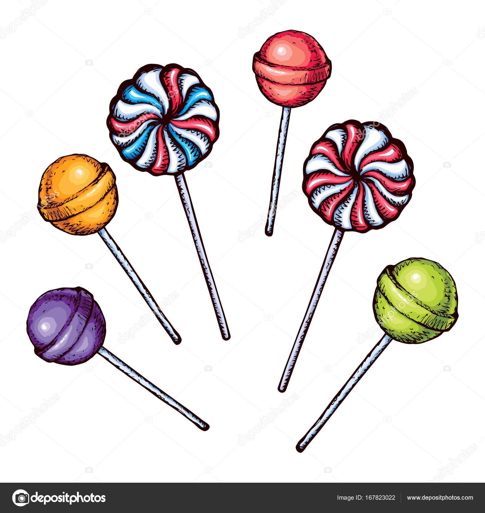 1600x1692 Lollipop. Vector Drawing Stock Vector Marinka