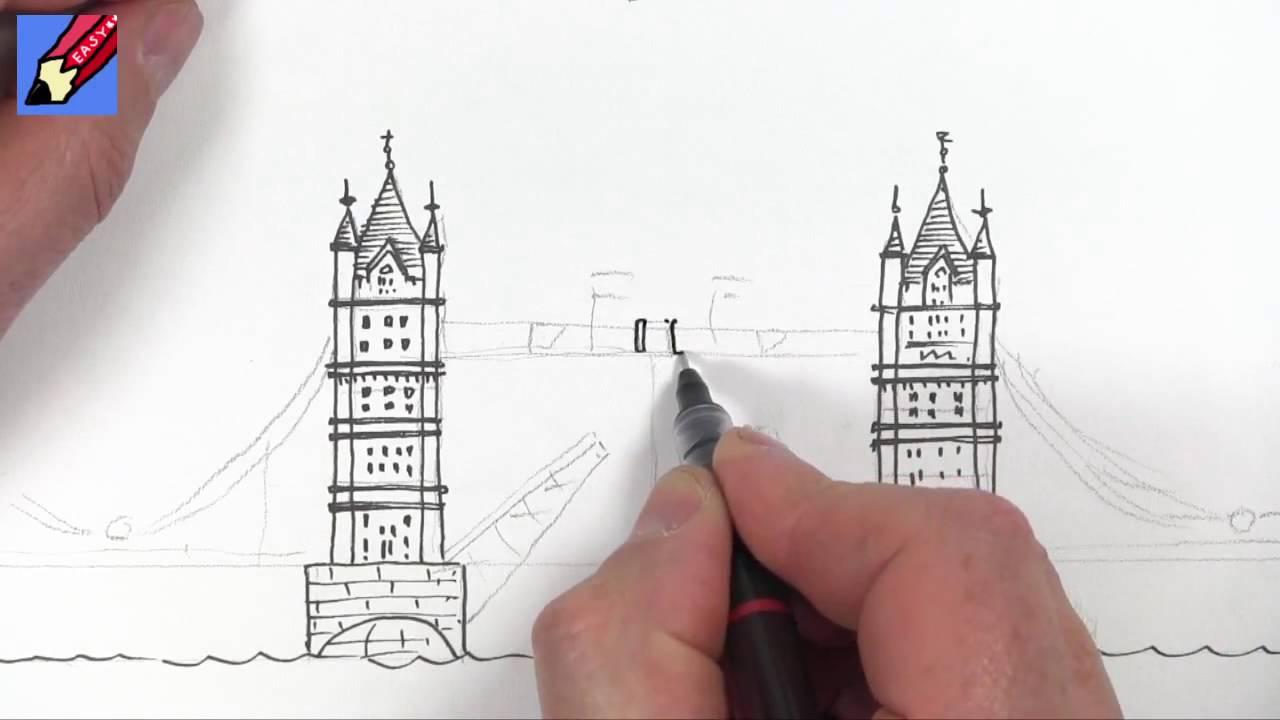 1280x720 Drawing Tutorial London's Tower Bridge