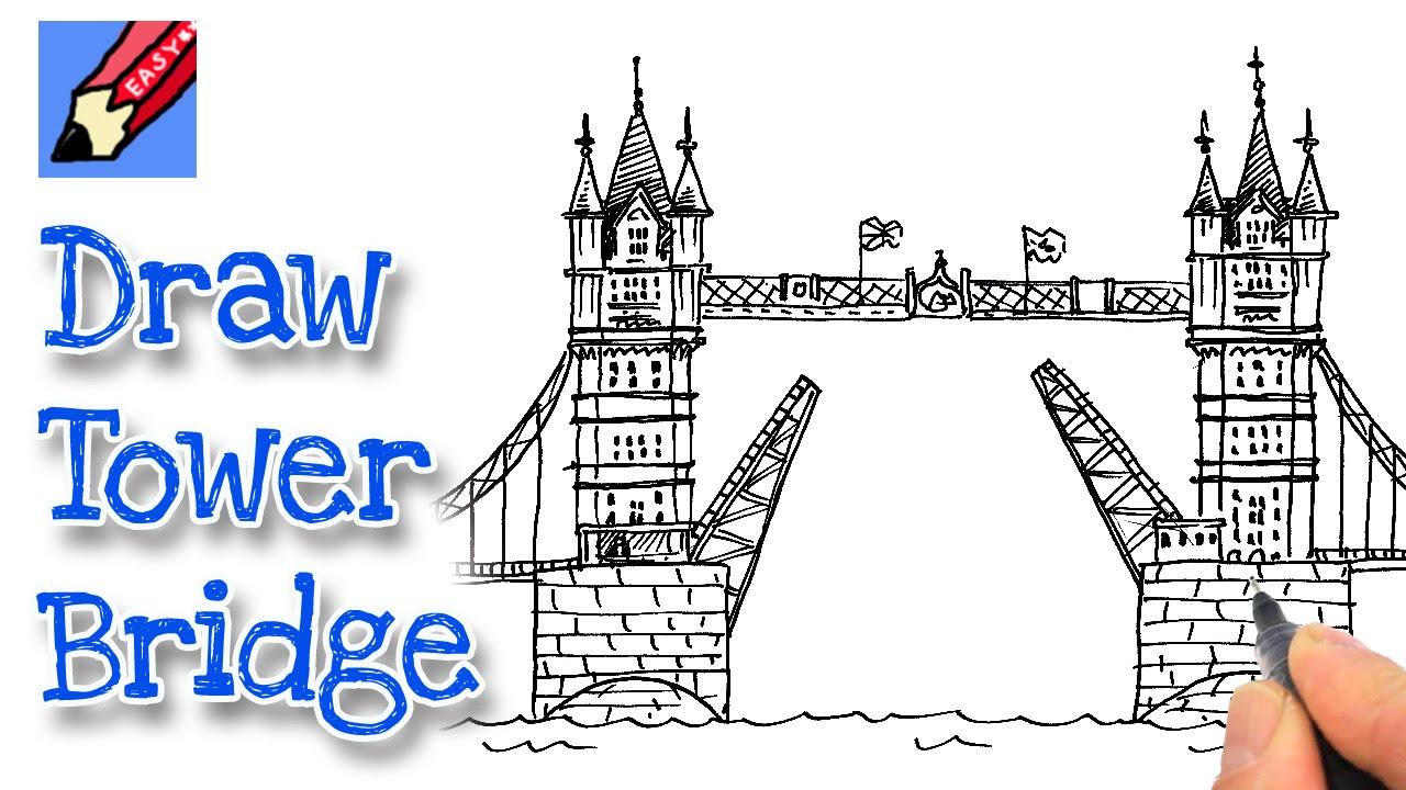 1280x720 How To Draw London's Tower Bridge