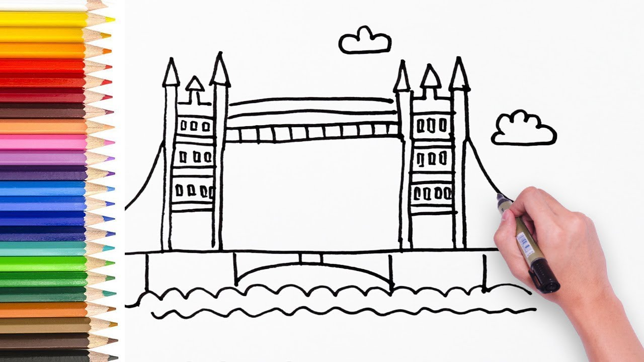 1280x720 Learn How To Draw London Bridge
