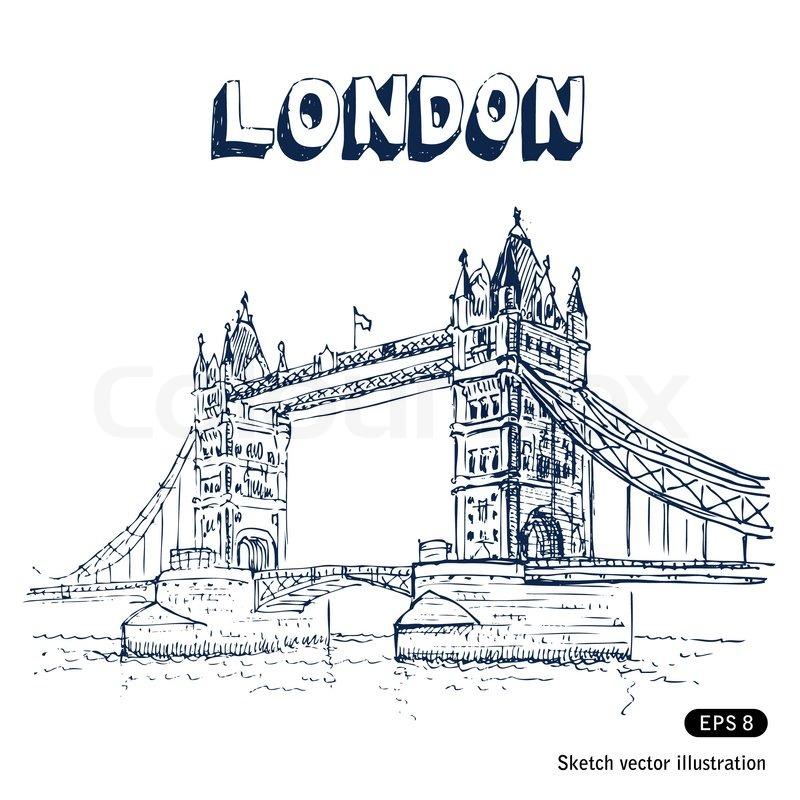 800x800 Tower Bridge In London Stock Vector Colourbox