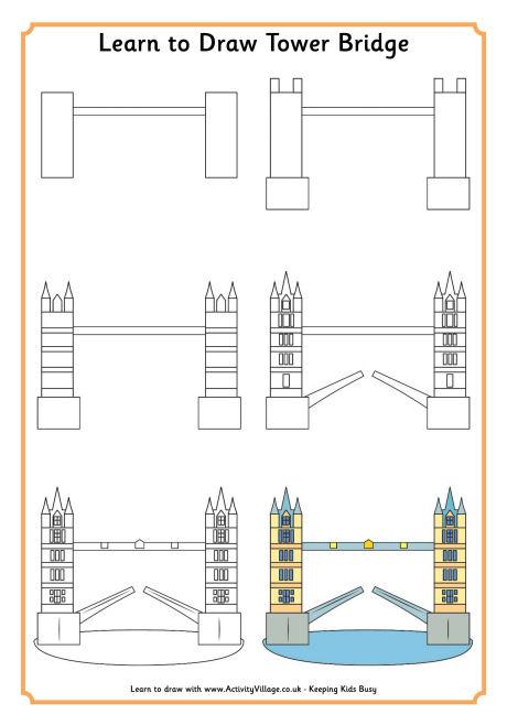 460x658 Learn To Draw Tower Bridge 000