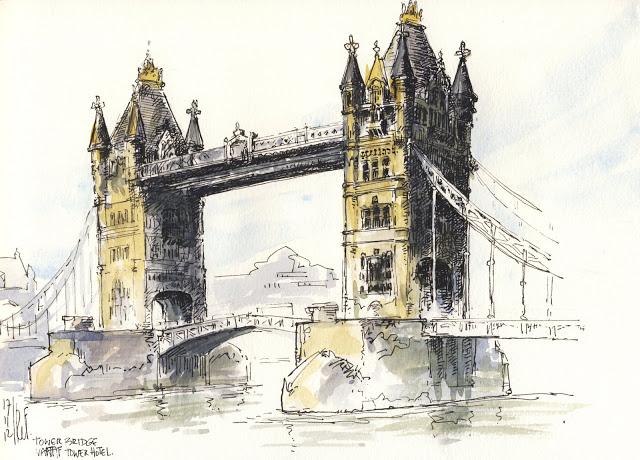 640x460 Rene Fijten Sketches Tower Bridge, London