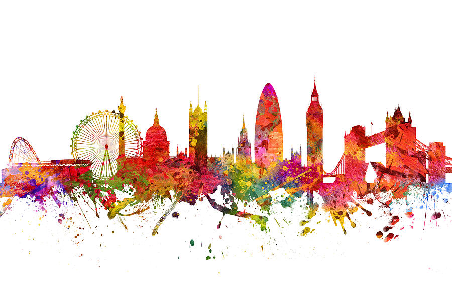 900x592 London Cityscape 08 Digital Art By Aged Pixel