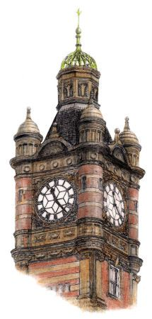 215x450 Drawing Of Clock Tower