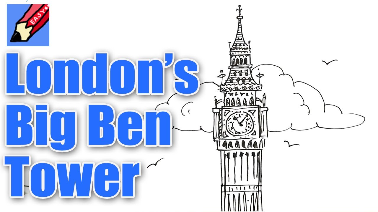 1280x720 How To Draw London's Big Ben Elizabeth Tower Real Easy For Kids