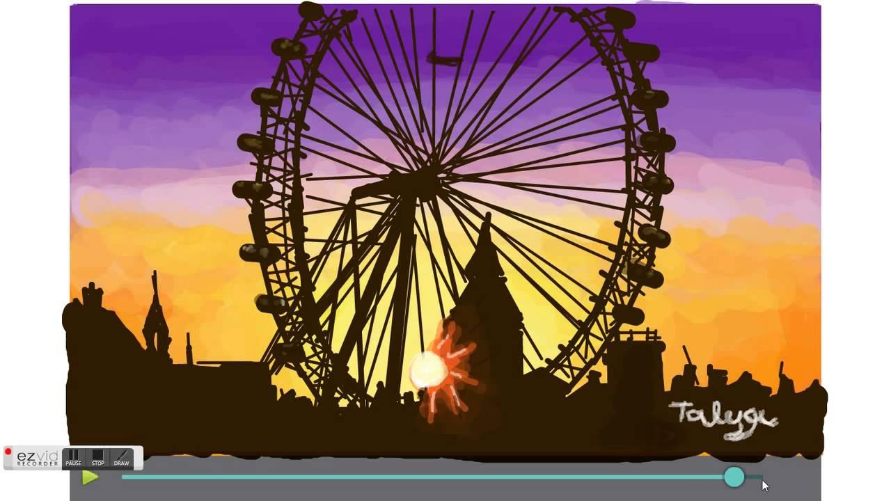 1280x720 How To Draw London Eye