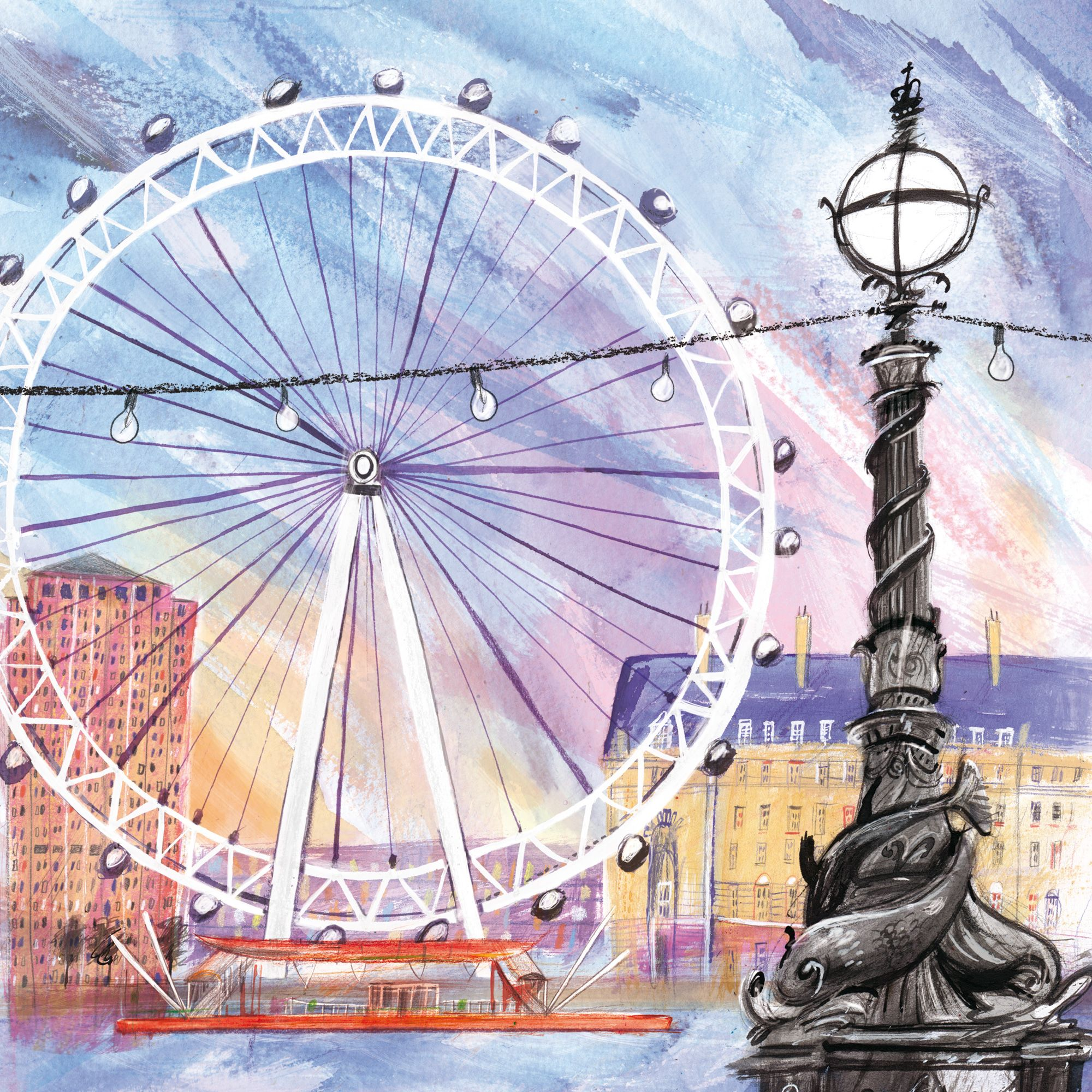 2000x2000 London Eye (Lhc22) London Town And City Canvas By Laura Hughes