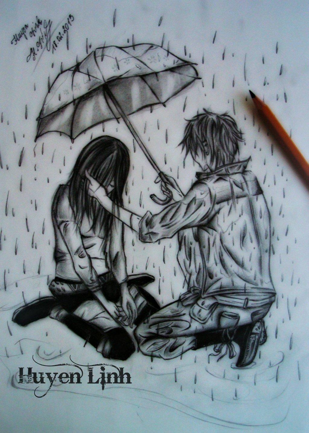 1024x1431 sketches of lonely boy alone boy in the rain pencil sketch sad