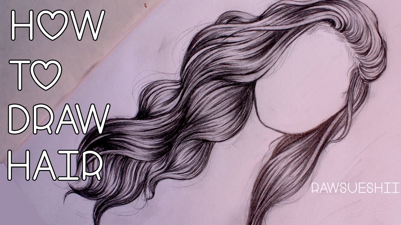 1280x720 How To Draw Hair Step By Step By Christina Lorre