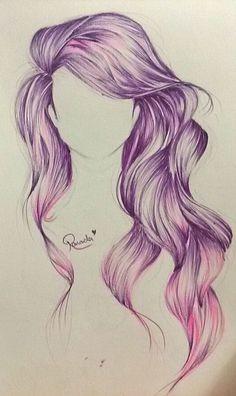 236x396 Long Hair Drawings Tumblr Tumblr Girl Hair Drawing