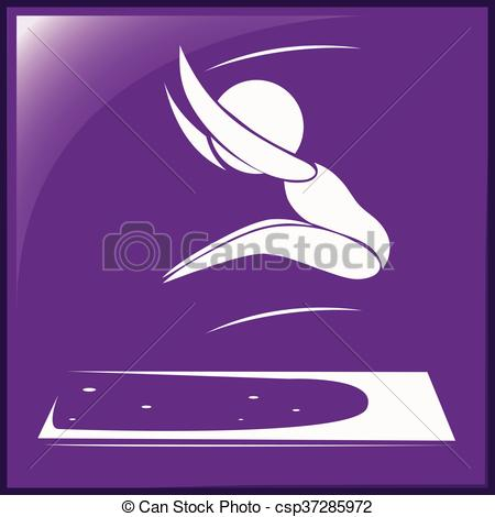 450x470 Sport Icon Of Athlete Doing Long Jump Illustration Vectors
