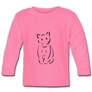 190x190 Cat Drawing Cat Baby Long Sleeve T Shirt Spreadshirt