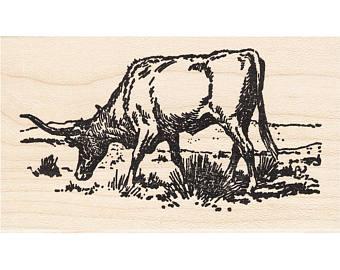 340x270 Longhorn Stamp Etsy