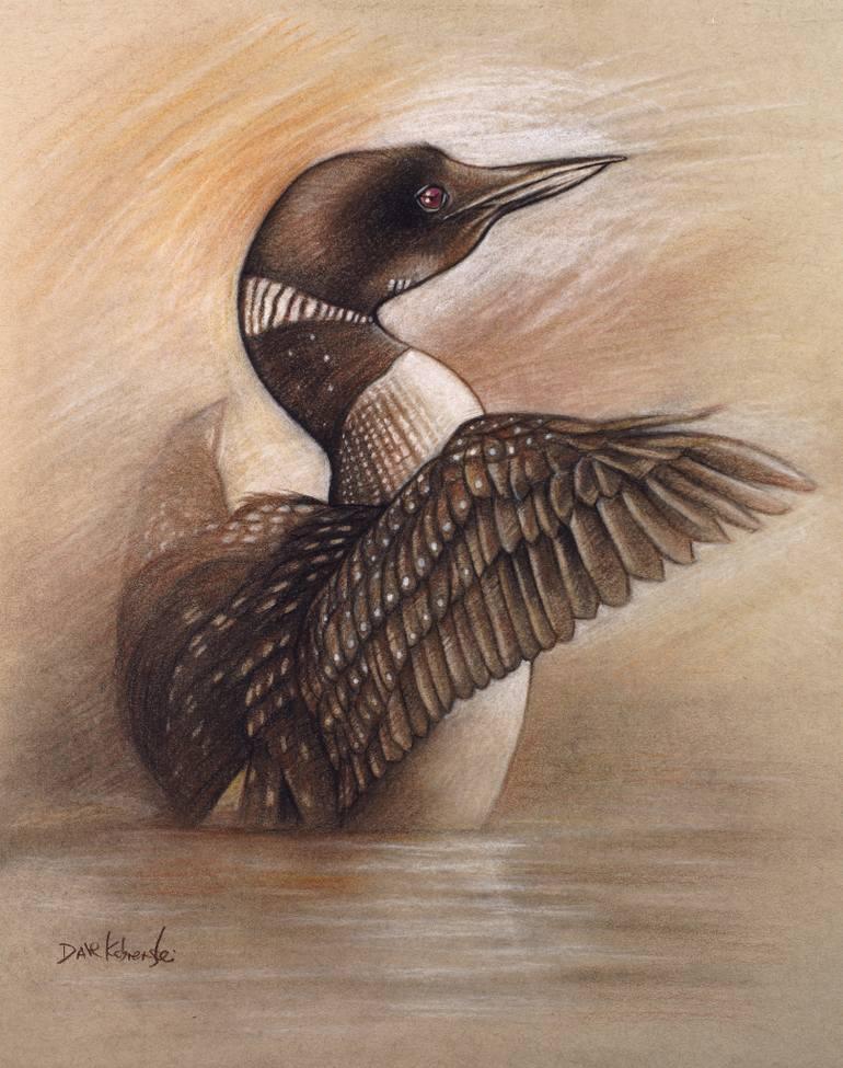 770x975 Saatchi Art Wild Loon Wildlife Drawing Spirit Animals Amp Wild