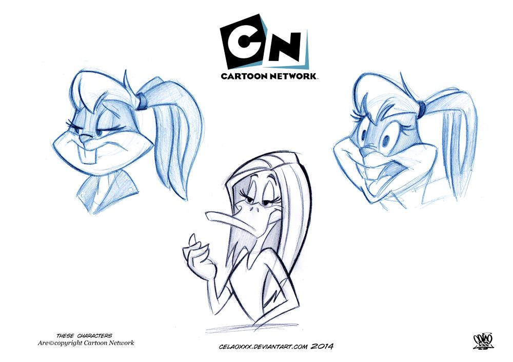 1000x707 W.b Looney Tunes Show Sketch By Celaoxxx