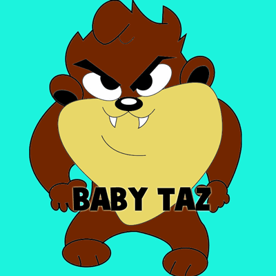 400x400 How To Draw Baby Tazmanian Devil From Looney Tunes Step By Step