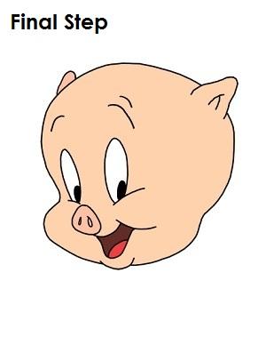 300x388 To Draw Porky Pig
