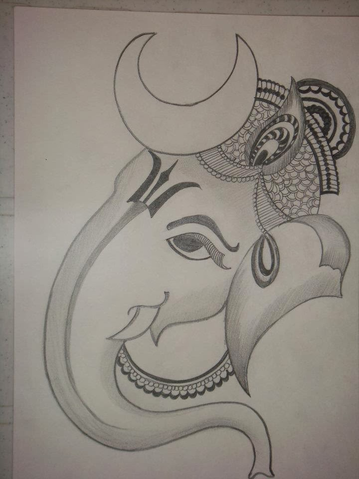 720x960 lord ganesha drawing