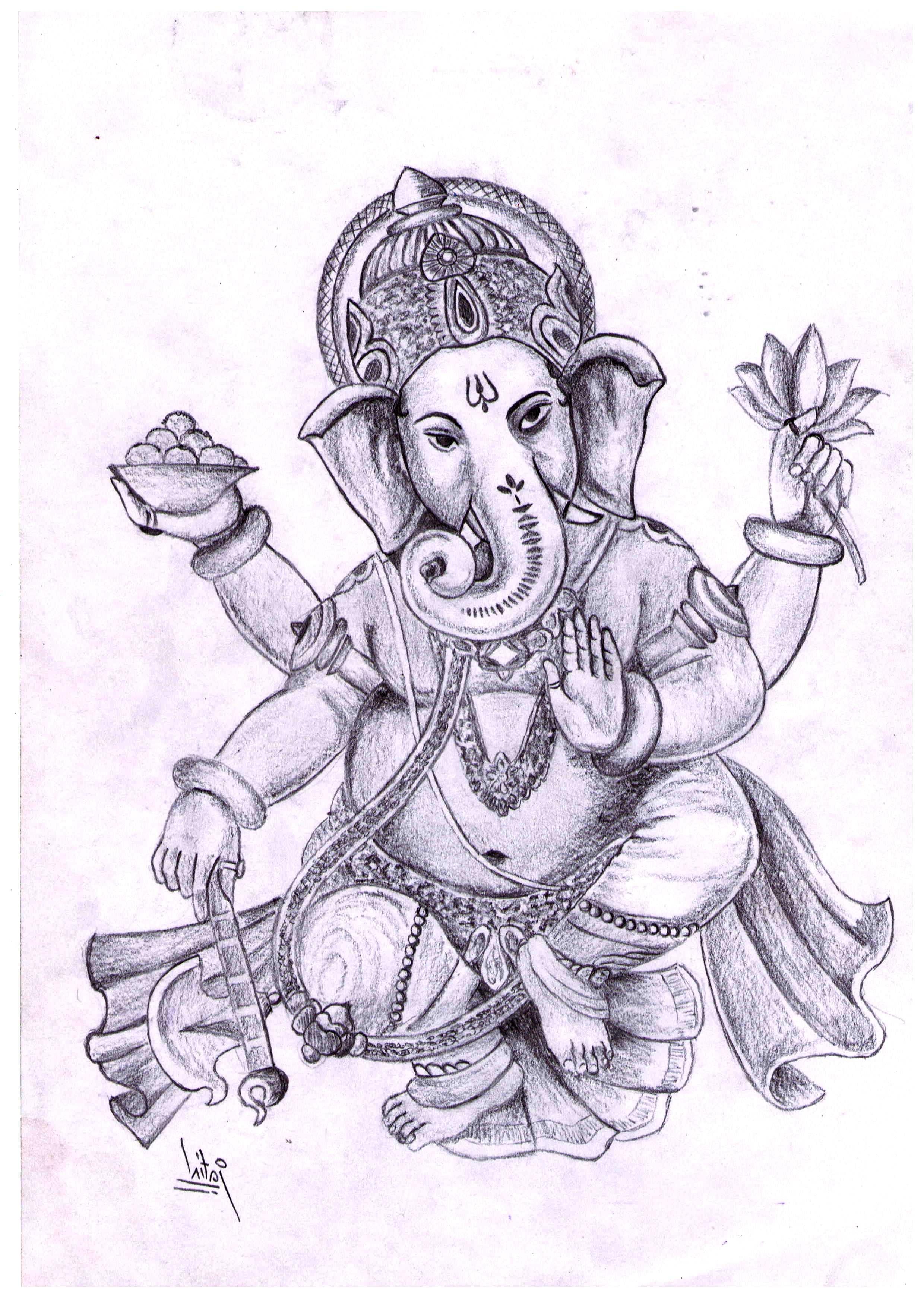 2480x3482 Drawing Of Lord Ganesha Pencil Drawing Of Lord Ganesha
