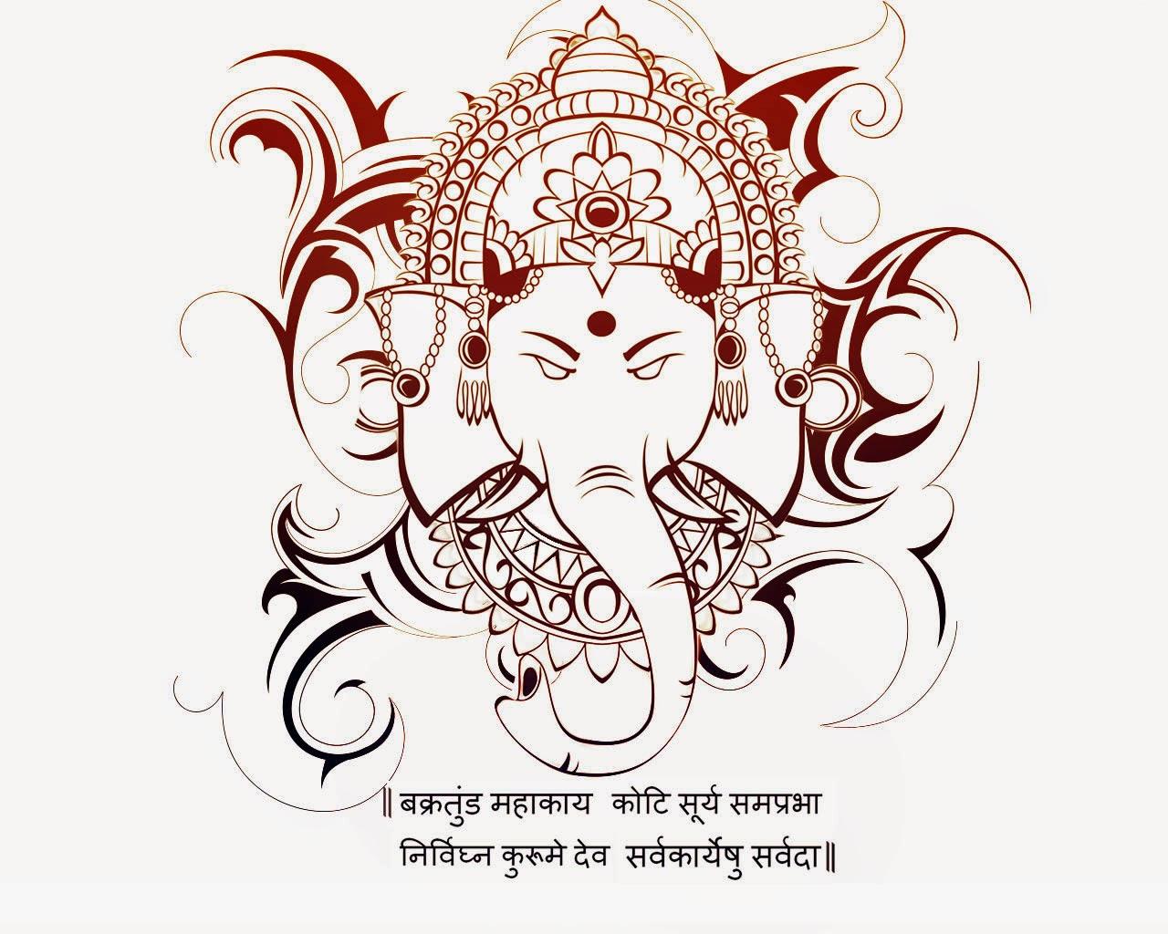 1280x1024 Lord Ganesha Sketch Sketch Ganpati. Ganpati Drawing Ganesha
