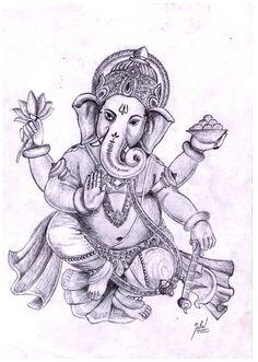 236x331 Lord Ganesha Pencil Sketch Beautiful! Ganesha Drawings