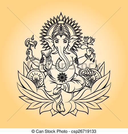 450x470 Lord Ganesha Indian God With Elephant Head. Hinduism