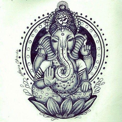 500x500 Ganesh Drawing