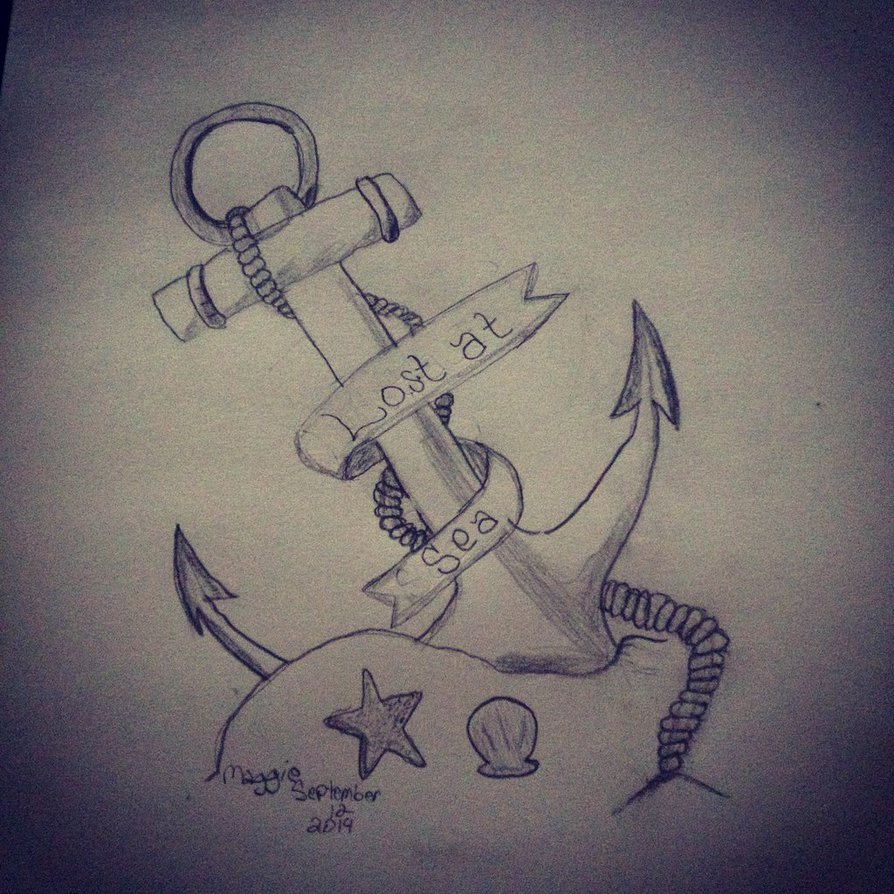 894x894 Drawing Of An Anchor