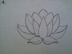 Traditional Flower Line Drawing : Lotus flower drawing sketch at getdrawings.com free for personal