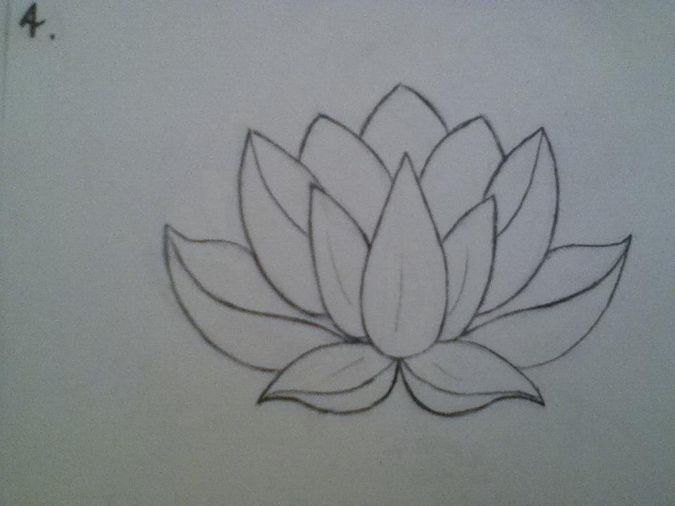 Lotus flower drawing step by step at getdrawings free for 960x720 how to make lotus flower drawings mightylinksfo