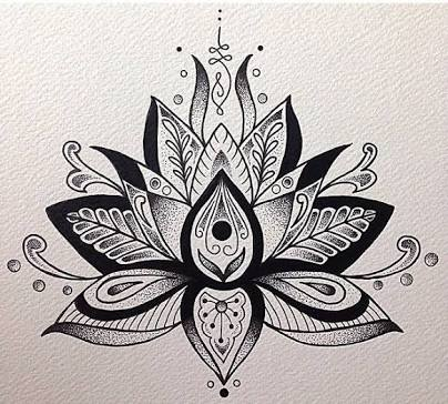 Lotus flower drawing tattoo at getdrawings free for personal 404x364 image result for unalome lotus flower meaning tattoos mightylinksfo
