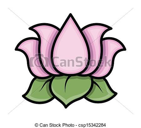 450x409 Drawing Art Of Cartoon Lotus Flower Vector Illustration Vector