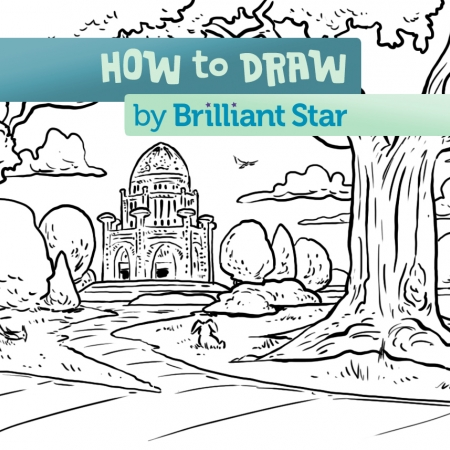 450x450 How To Draw The Lotus Temple Brilliant Star