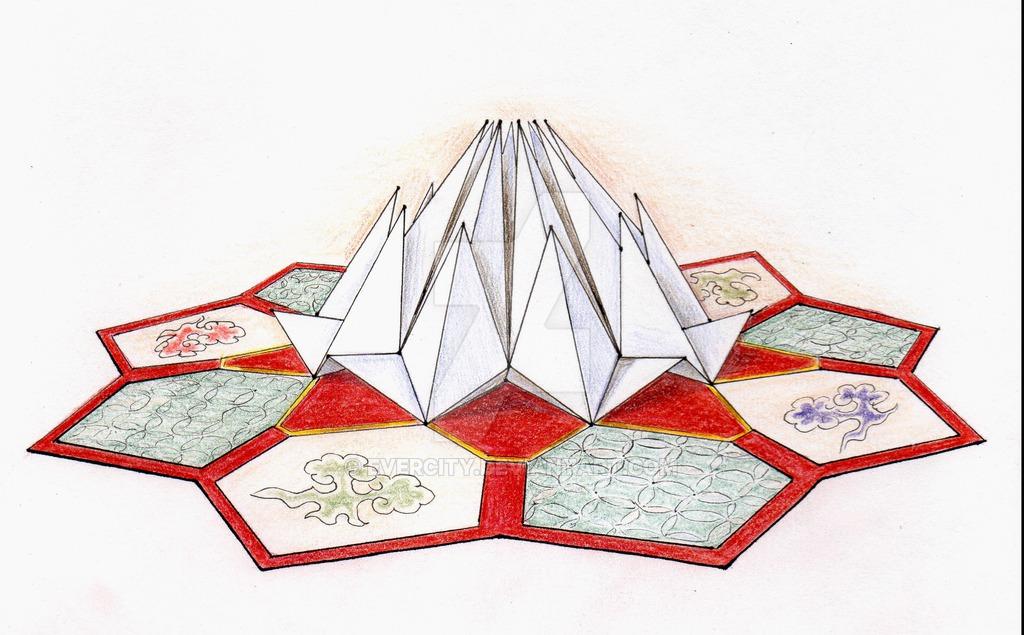 1024x635 Lotus Temple. Stylization 3 By Evercity