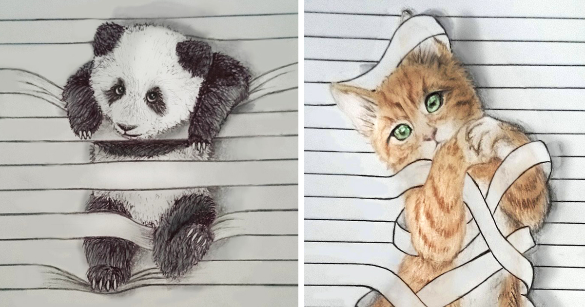 1200x630 I Draw Animals That Don'T Want To Stay Between The Lines Bored Panda