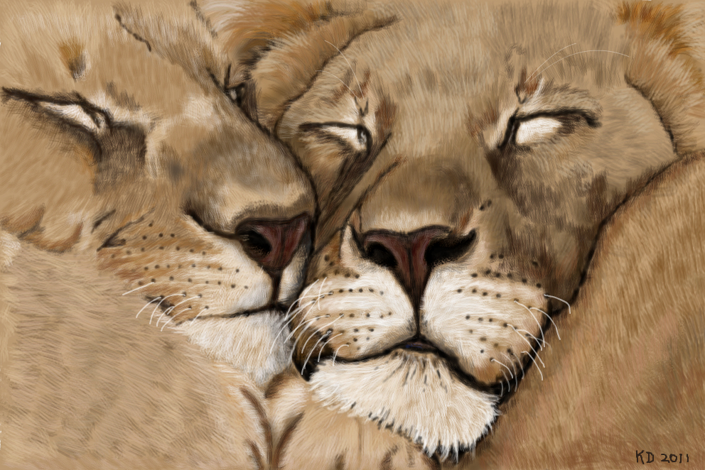 992x662 Lion Love An Animals Speedpaint Drawing By Kutedymples In Group
