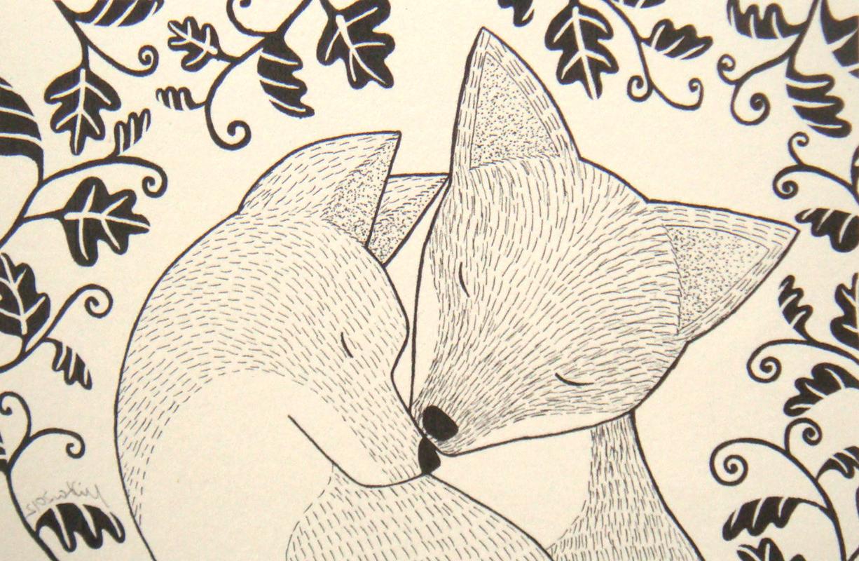 1226x800 Love Animals Drawing